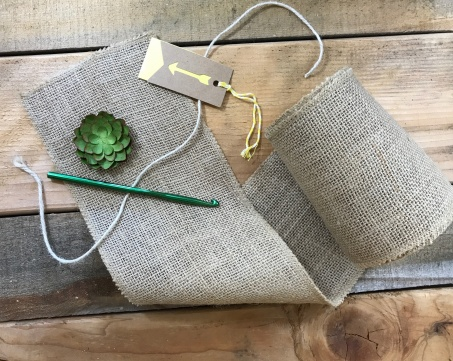 Handmade Burlap Gift Bag