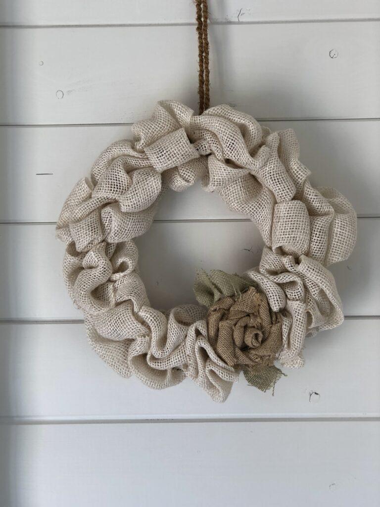 Burlap Bubble Wreaths