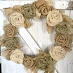 Rustic Burlap Flower Wreath