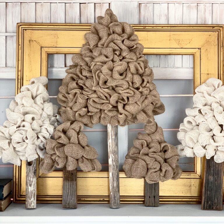 Burlap Tree – A Unique DIY