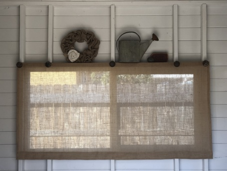 burlap window coverings