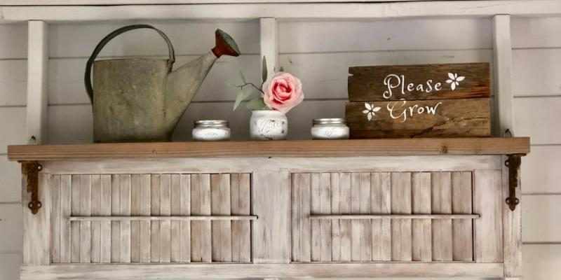Old Shutters Make Easy DIY Shelves
