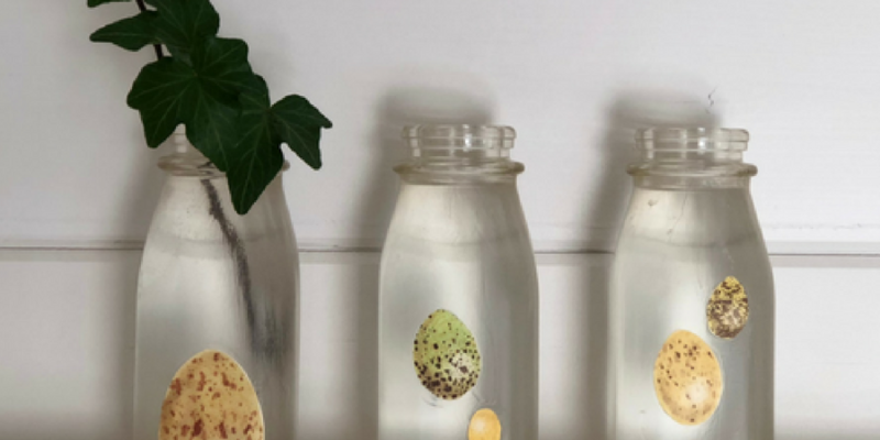 Milk Bottle Mod Podge – Another Simple DIY!