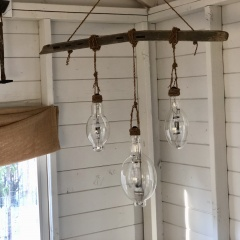 Rustic Hanging Light Bulbs