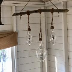 Rustic Hanging Light Bulbs