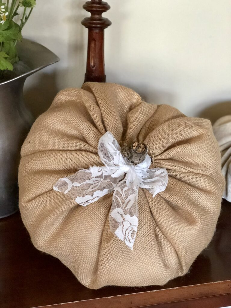 Burlap Pumpkin DIY Tutorial