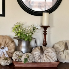 Fabric And Velvet Pumpkins