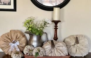 Fabric And Velvet Pumpkins