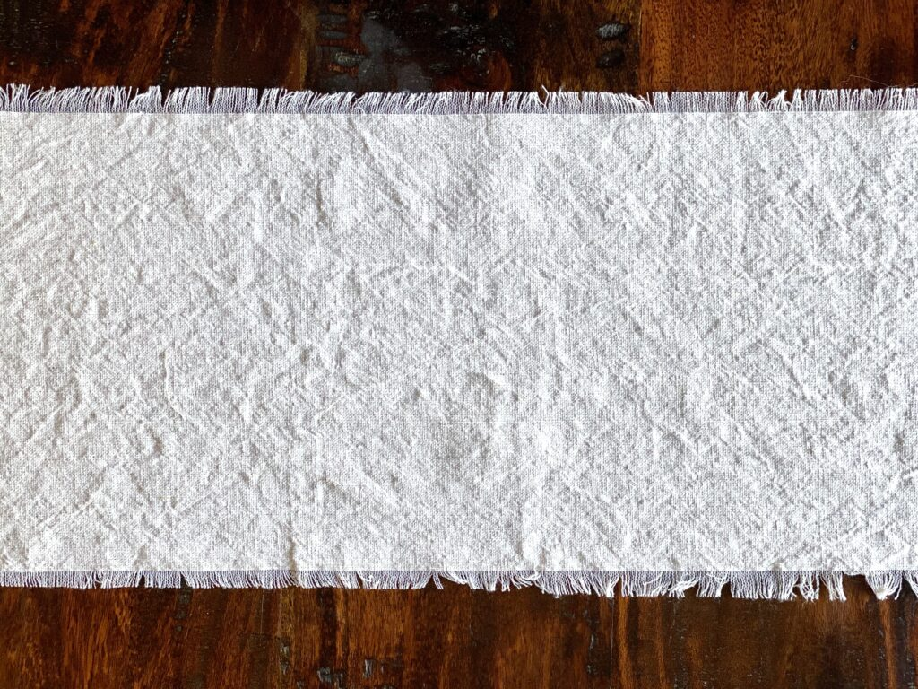 Easy DIY Drop Cloth Table Runner