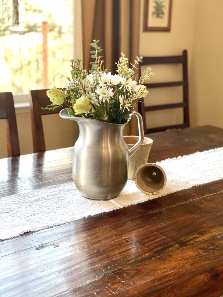 Easy DIY Drop Cloth Table Runner