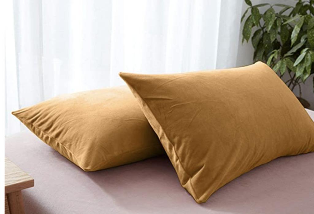 Gold pillow shams on a budget