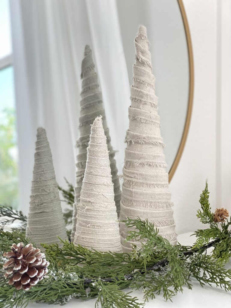 DIY Cone Christmas Tree Tutorial
