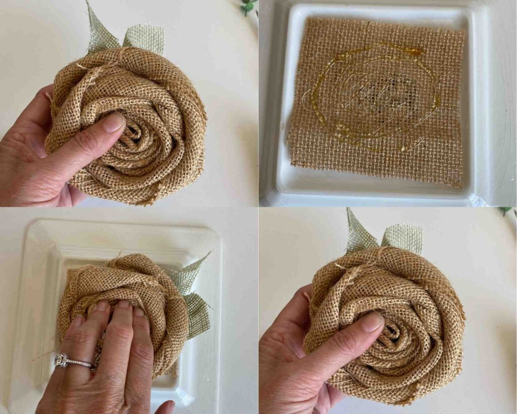 how to make burlap roses