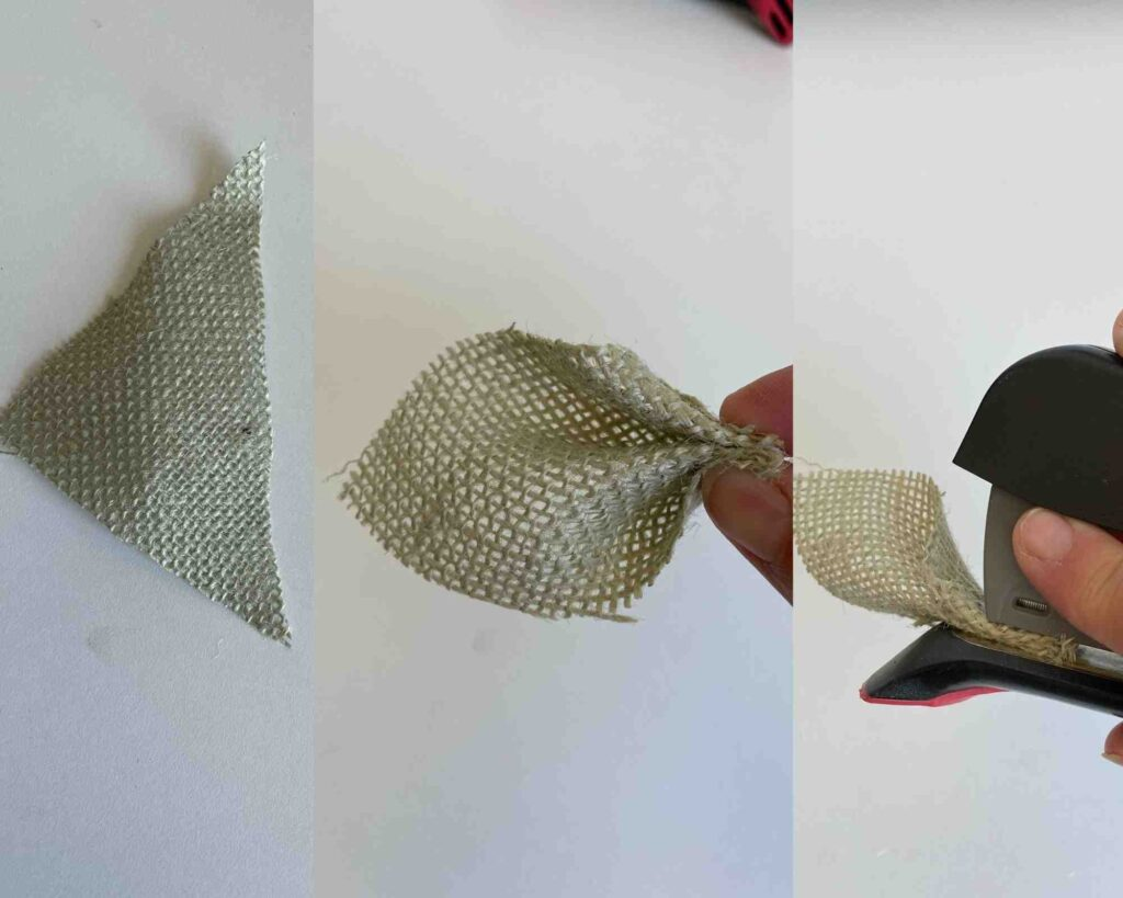 How To Make Burlap Leaves