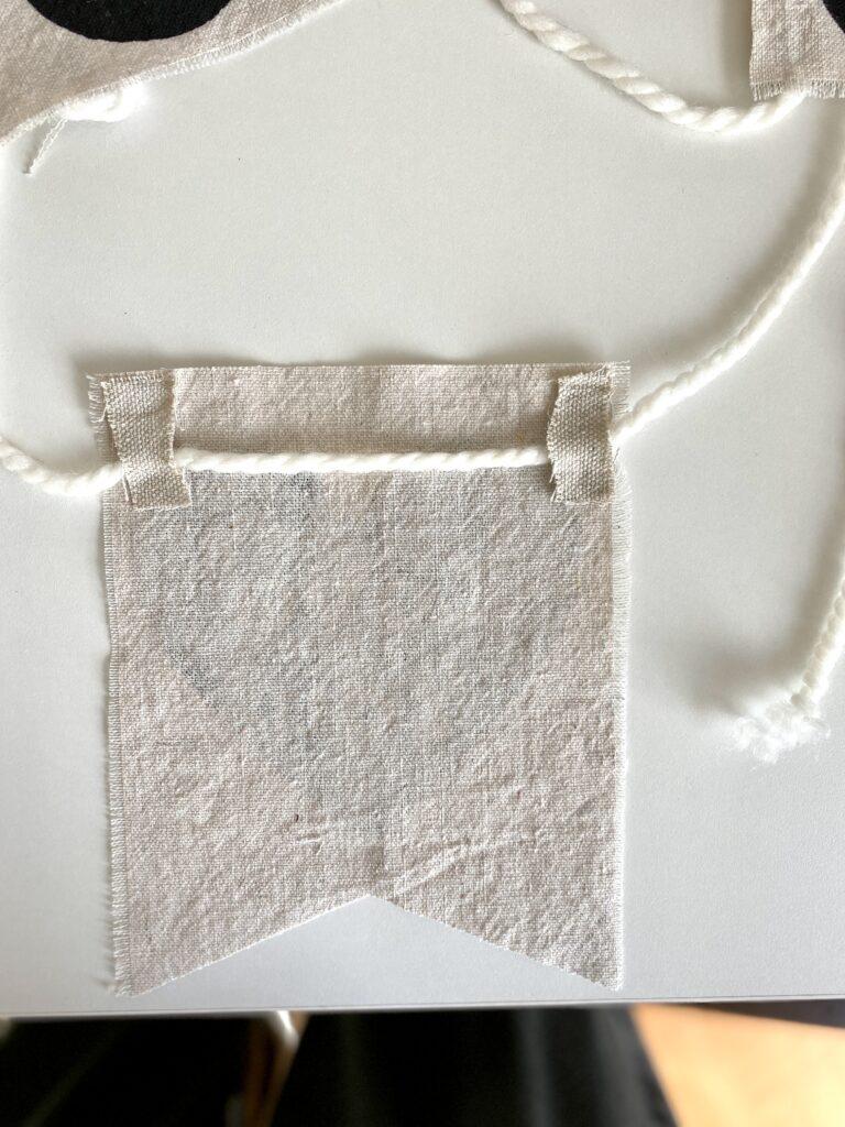 Easy no sew banner diy
