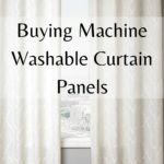 how to buy machine washable curtain panels