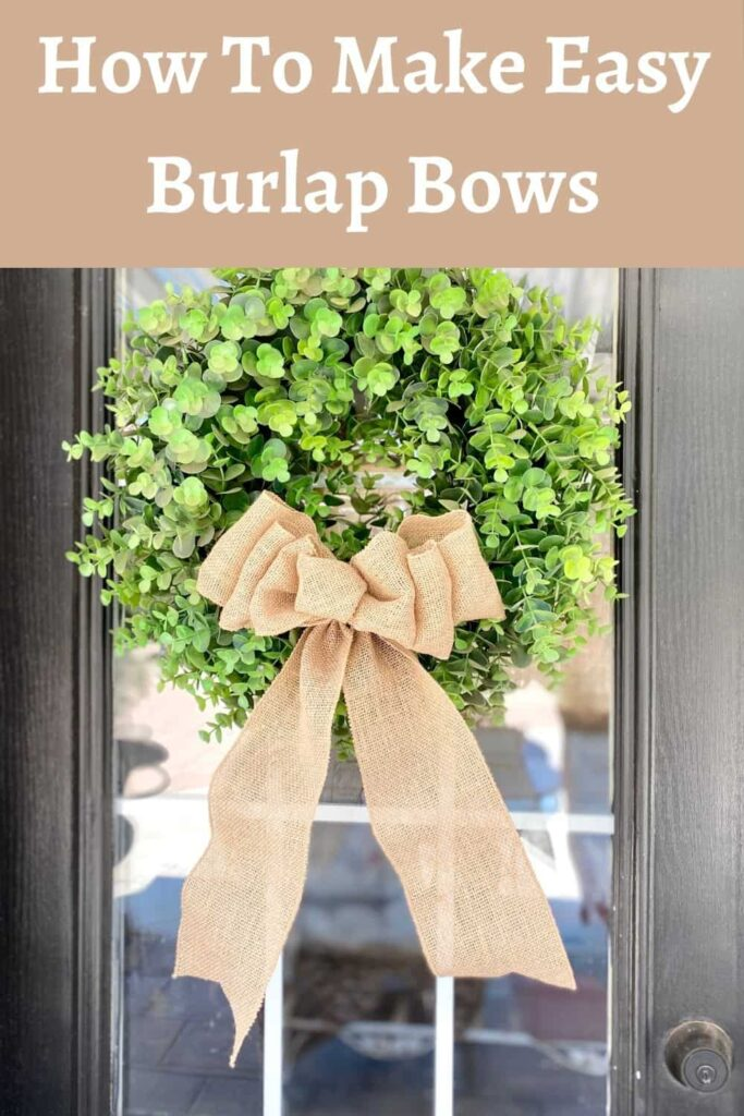 How To Make Easy Burlap Bows title to a post