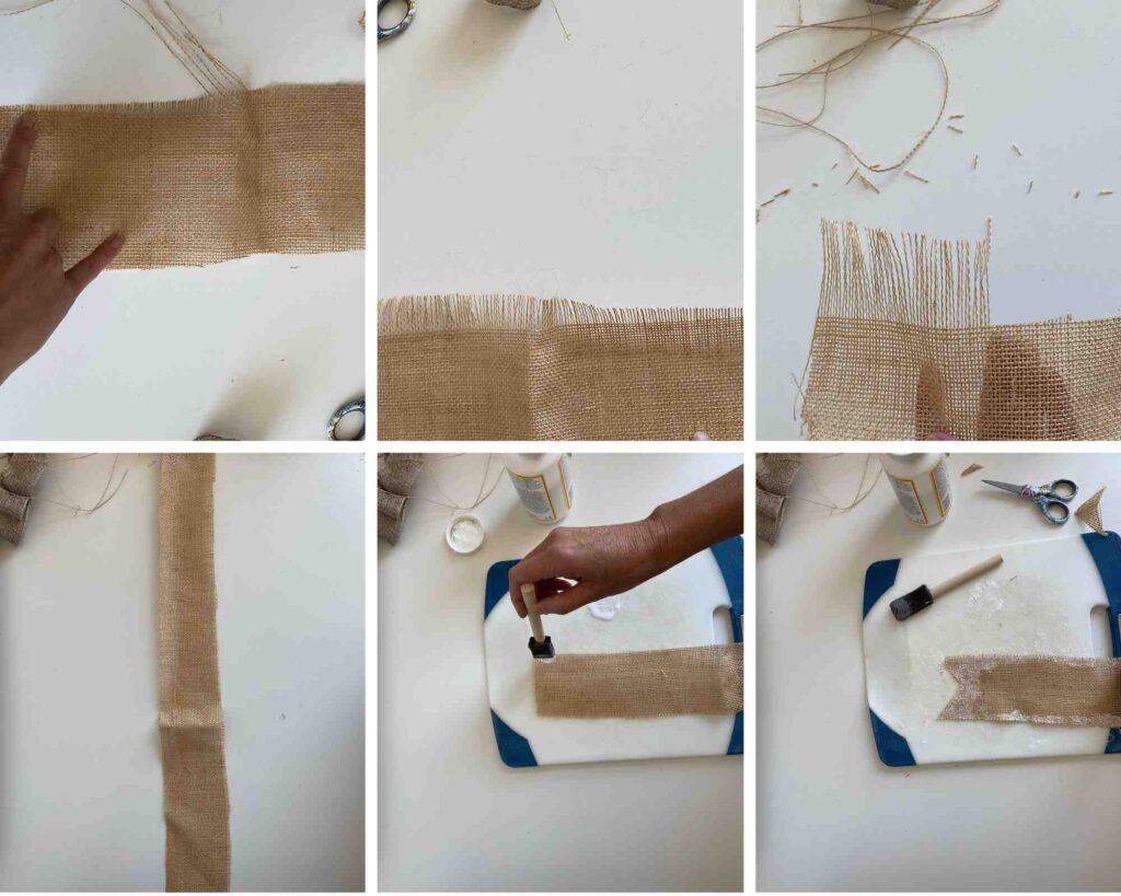 How to make burlap ribbon