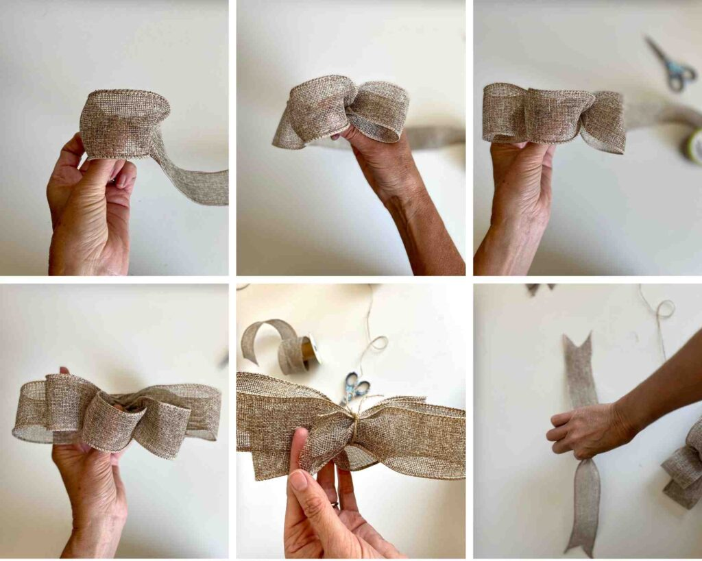 How To Make A Burlap Loop Bow step by step