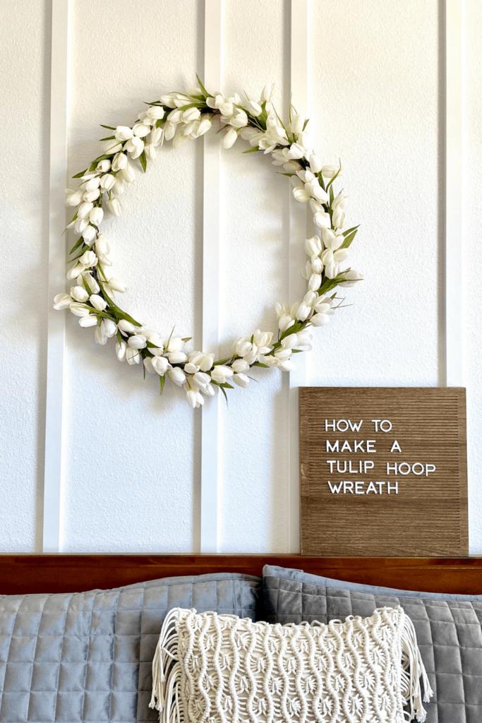 how to make a tulip hula hoop wreath