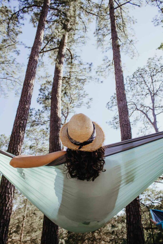 Outdoor hanging hammock
