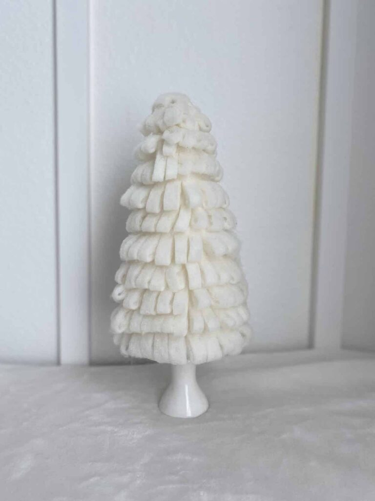 DIY Cone Christmas Tree Made with quilt batting